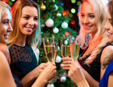 women with champagne