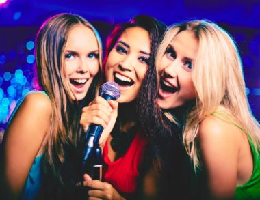 girls in karaoke bar
