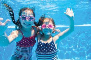 girls in pool facilities
