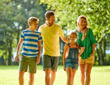 hengar family walking in trees