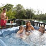family waterside cabins hot tubs