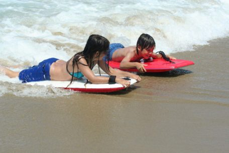kids bodyboarding